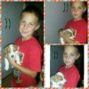 Niell Lubbe-Louw with pupppy